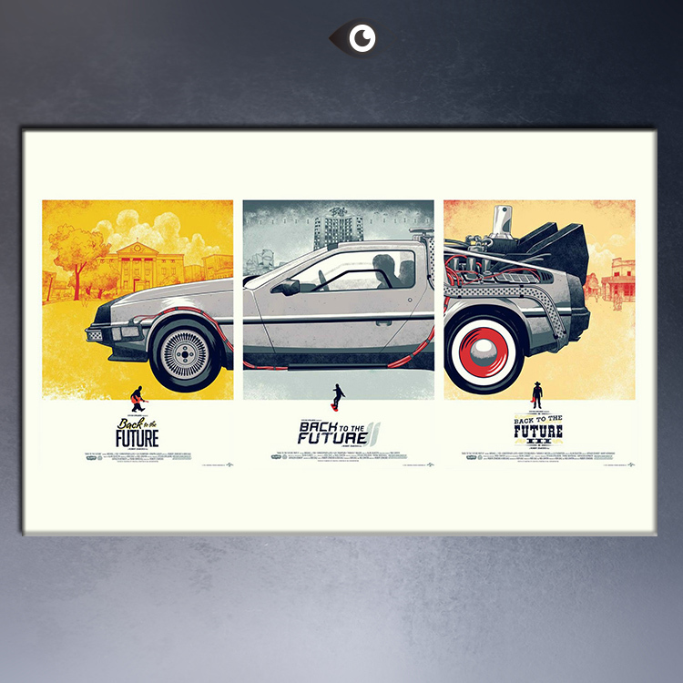 free shipping back to the future 1 2 3 car movie classic wall pictures poster pint on canvas painting for children wall decor in painting calligraphy from