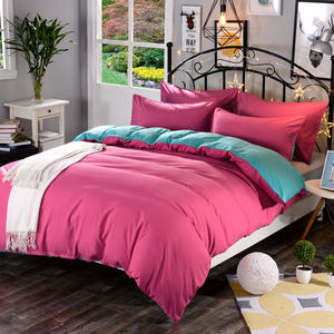 Image 5 - 1pcs Cotton Blend Duvet Cover Solid Color Reactive Printing Comforter Cover Twin Full Queen King Size