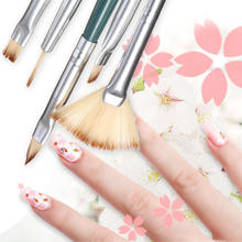 5pc/set Light Therapy Pen Brush Pen Row Phototherapy Manicure Brushes for Women
