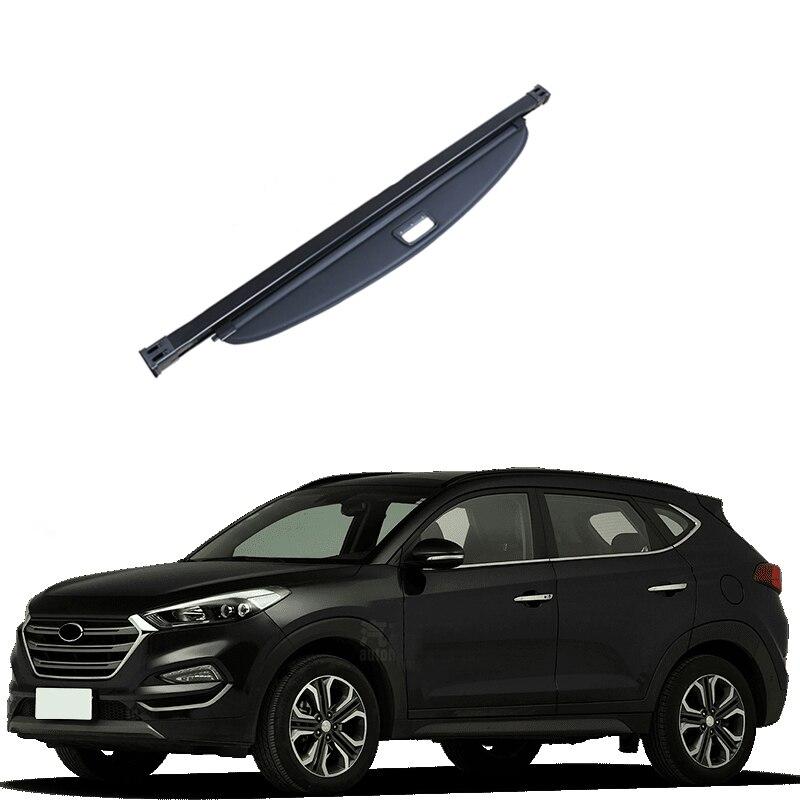 Protection de sécurité intérieure noire pour coffre arrière pour Hyundai Tucson 2016 2017 2018 accessoires de style de voiture!