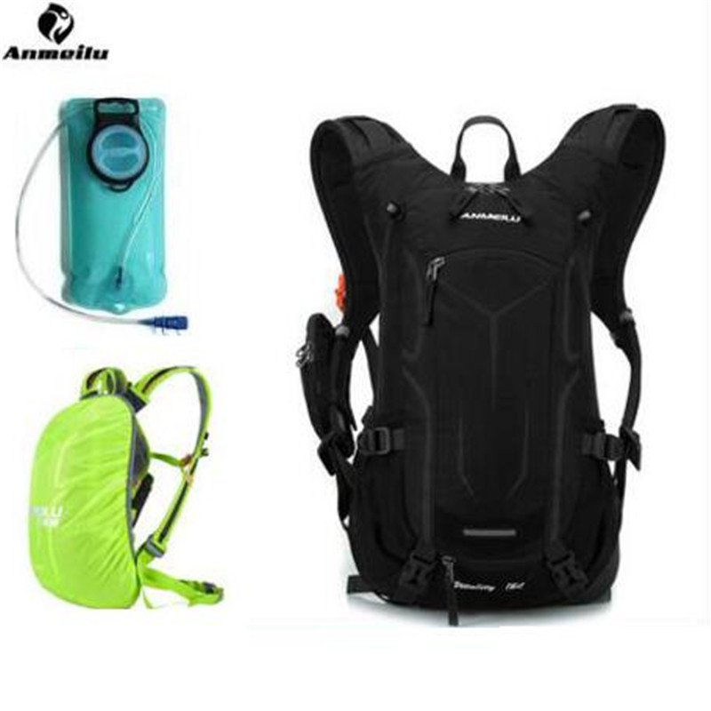 ANMEILU  18 L Men Women Outdoor Sport Water Bag Waterproof Cover Camping Cycling Backpack Hiking Hydration Bladder Camelback anmeilu 20l rucksack 2l water bag waterproof hiking camping climbing cycling travel backpack outdoor bag hydration pack