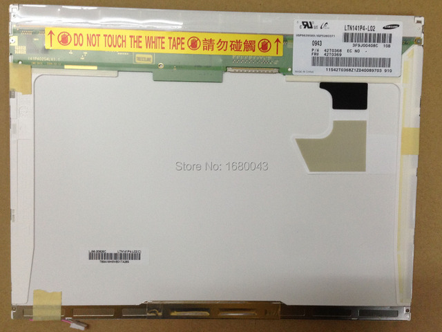 "Free shipping LTN141P4-L02 LTD141EN9B HT14P12-100 LTN141P4-L05 LTN141P4-L03 14.1"" LCD Display Laptop Screen"