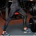 Hombres Pantalones de Compresión de Capa Base de Engranajes Desgaste Apretado Pantalones Leggings M L XL