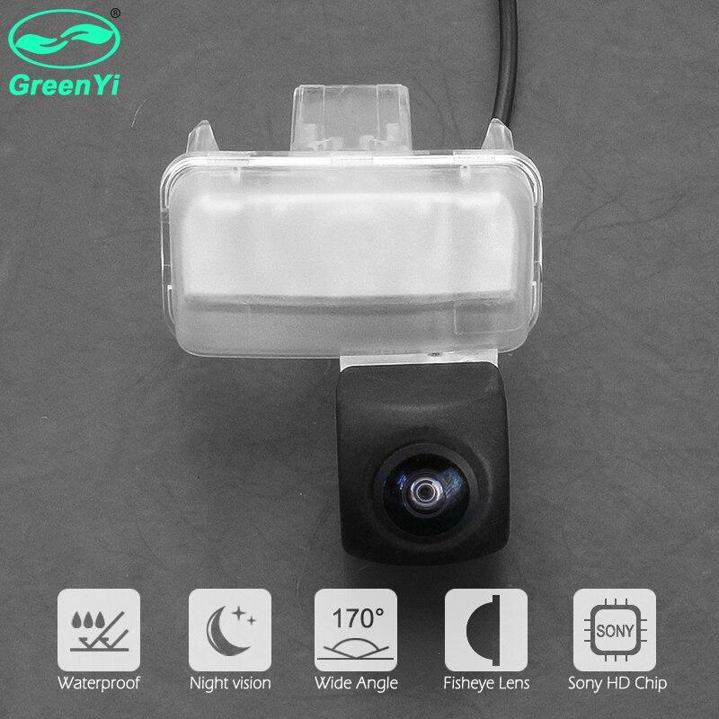 GreenYi HD 170 градусов рыбий глаз Sony Объектив звездный свет ночного видения Автомобильная камера заднего вида для Toyota Corolla Yaris Vios Verso Camry