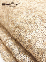 ShinyBeauty 3 Meters Champagen Sequin Fabric for Wedding/Sequin Backdrop/Table Runner/Tablecloth Decoration ay