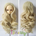 French curly hair beautiful kinky wigs for 1/3 1/4 1/6 bjd doll