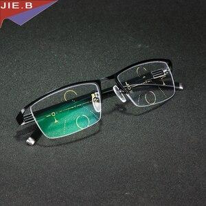 Image 5 - Titanium Alloy Smart Zoom Asymptotically Progressive Reading Glasses Half Rim Commercial Presbyopia Hyperopia Multifocal Glasses