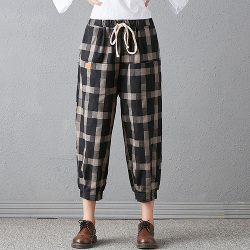 New 2018 Spring And Autumn Artistic Vintage Trousers Women Harlan Pants Woman Pants Loose Linen Pants For Women Plus Size Women 1