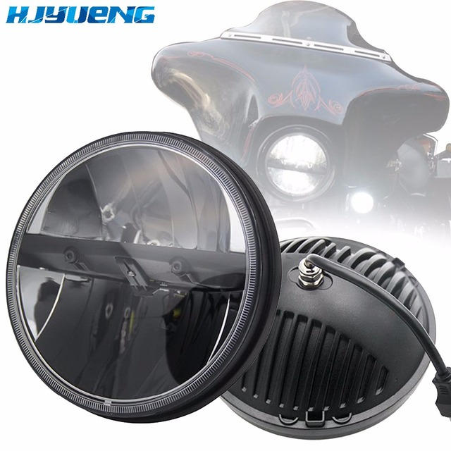 """36w For Lada 4x4 urban Niva 7Inch LED Projector Headlights 7"""" LED Headlamps  with H4 to H13 Adapter for Jeep Wrangler"""