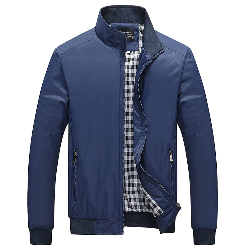 Мужская куртка 7XL 8XL, повседневная однотонная куртка большого размера с воротником-стойкой, AY6601