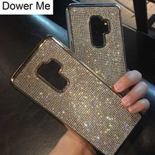Dower Me Fashion Bling Full Crystal Diamond Soft Electroplate Back Case Cover For Samsung Galaxy Note 9 8 5 S9 S8 S7/6 Edge Plus