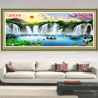 5D Diy Diamond Painting Cross Stitch Square Diamond Embroidery D Waterfalls Natural Landscapes Diamond Mosaic Full