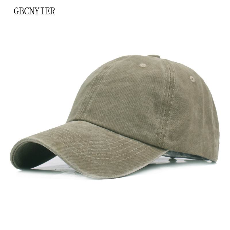 18dfdf663d6 GBCNYIER High Quality Snapback Cap Washed Cotton Adjustable Solid Color  Baseball Cap Unisex Couple Cap Fashion