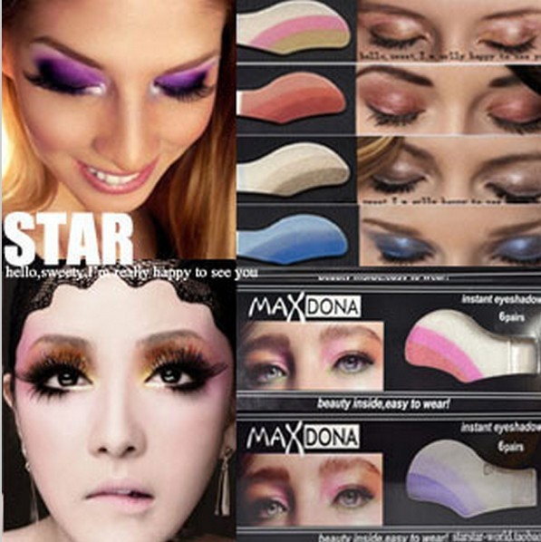 2014 Fashion women party  magic eye shadow Star fashion Smoky Eyes shadow stickers wholesale free shipping