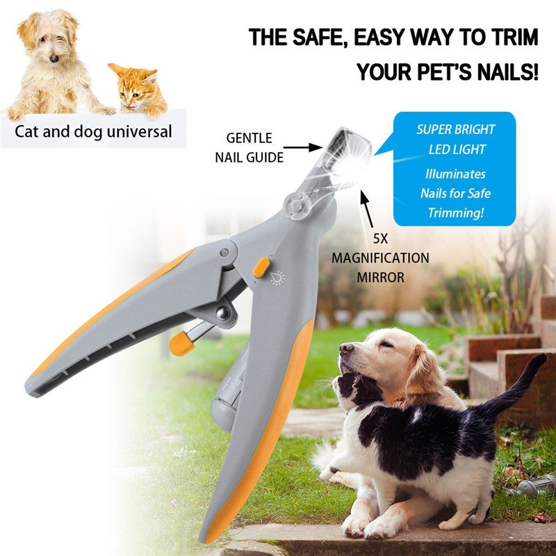 Pet Dog Cat Nail Clippers With Led Light To Grooming Your Pet Nail Has A Safety Guard 8