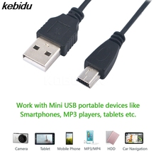 kebidu 1pc Mini USB 2.0 A Male to Mini 5 Pin B Charge Data Cable for M