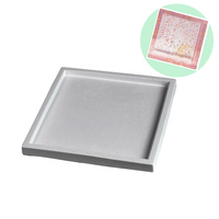 Square Concrete Plate Silicone Mold Handmade Cement Tray Mould Art Resin Molds DIY Coaster Base