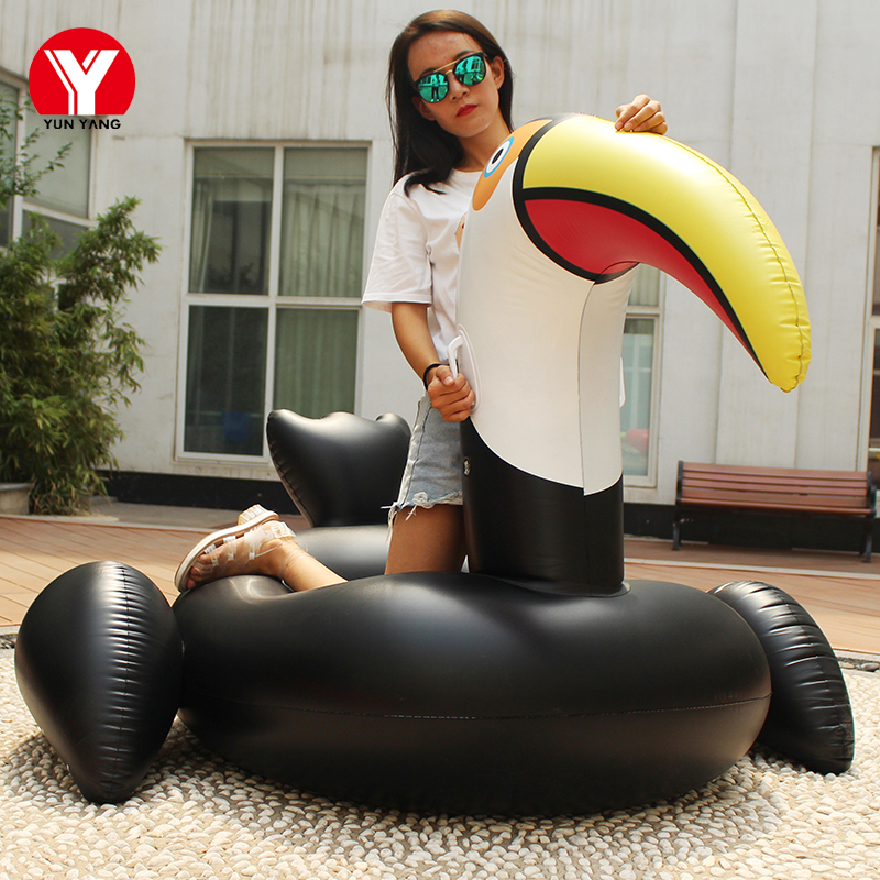 Inflatable Mattress Swimming Toucan Pool Float Inflatable Swimming Mattress Water Toys Inflatable Circle for Pool Mattress