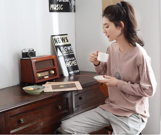 Sleepwear female 100 cotton long sleeve lounge spring and autumn casual cotton brief 100 at home