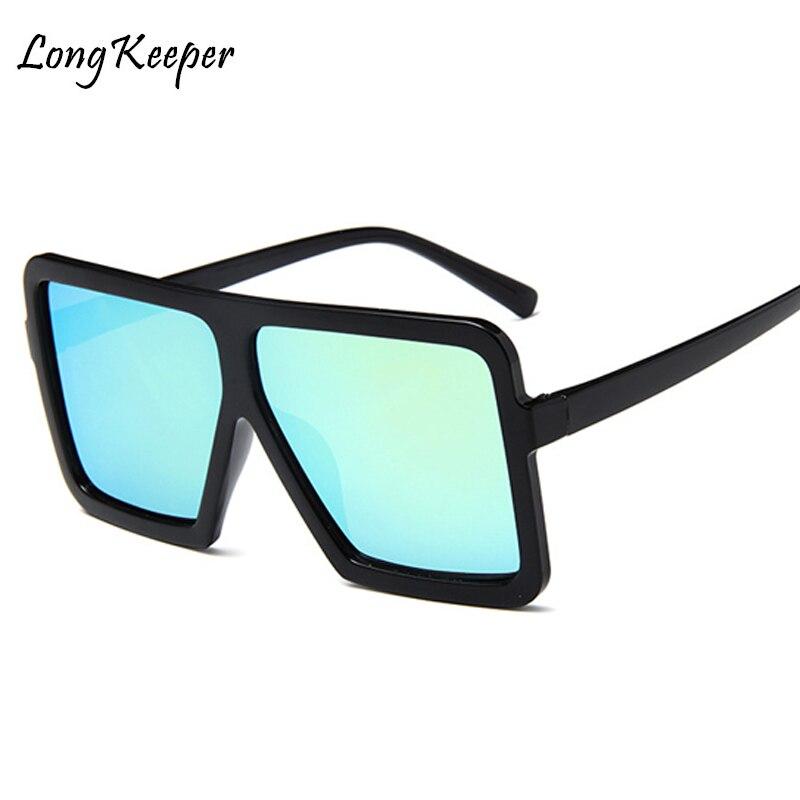 783cf7a0de9 Long Keeper Square Oversized Sunglasses Women Retro Brand Designer Gradient Lens  Shades Sun Glasses Men Big Frame Sun Glasses-in Sunglasses from Apparel ...