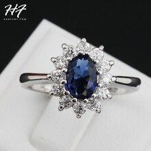 Кольцо серебряного цвета с синим кристаллом, ювелирные изделия, изготовленные с подлинными элементами SWA из Австрия, 5 разных размеров, горячая Распродажа R076