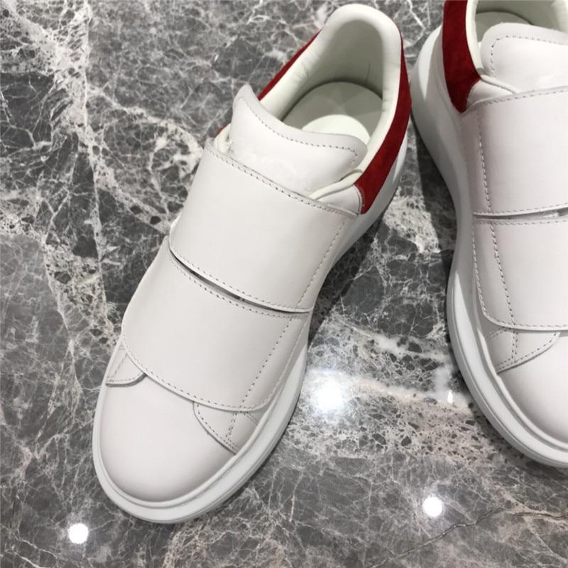 Женские кроссовки на застежке липучке; белые теннисные туфли; женская повседневная обувь из натуральной кожи в стиле пэчворк; уличная женск