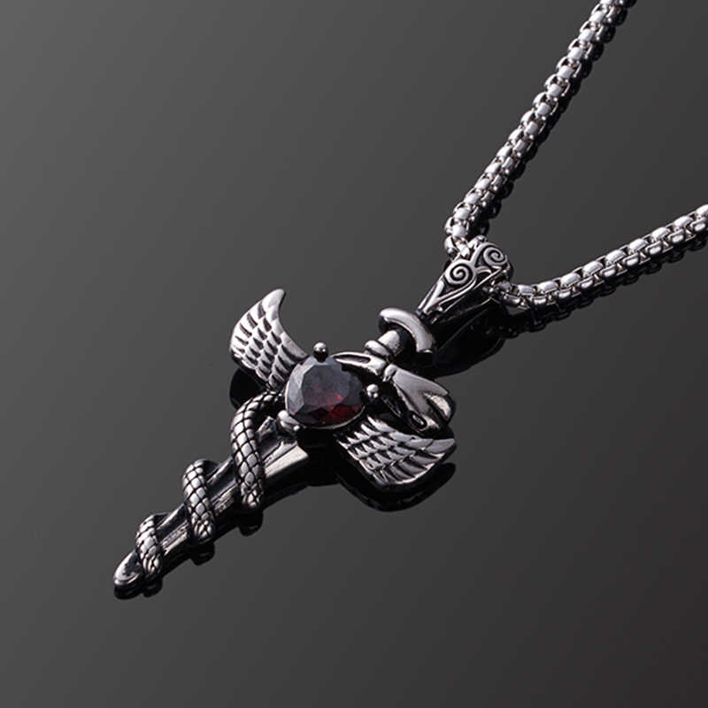 Men's Pendant, Stainless Steel Pendant Necklace For Men Jewelry Accessories, Male Necklace