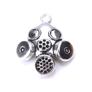 Image 3 - 5pcs/lot 33 x 28mm Gas Mask Charms Antique Silver Color for diy charms jewelry accessories necklace pendant findings making