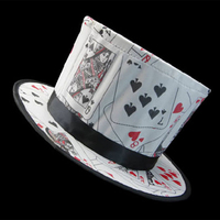 Poker Patrón Primavera Plegable Sombrero Mágico Magos de gama Alta Sombrero Apoyos Mágicos Trucos de Magia Clásicos