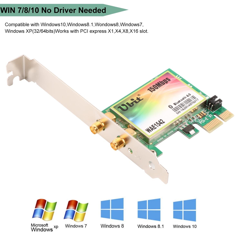 Microsoft Wireless Pci Card Trusted Wiring Diagram Express Ubit Bluetooth 4 0 Desktop Network Cardpci Linksys Wi Fi For