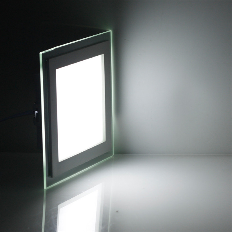 6W 9W 12W 18W 24W LED Panel Downlight Square Glass Cover Lights High Bright Ceiling Recessed Lamps AC85-265 With <font><b>adapter</b></font> image