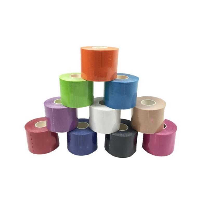 2 Rolls 5cm X 5m Sports Muscle Tape Cotton Elastic Adhesive Muscle Bandage Care Strain Injury Support Multiple Parts Of The Body