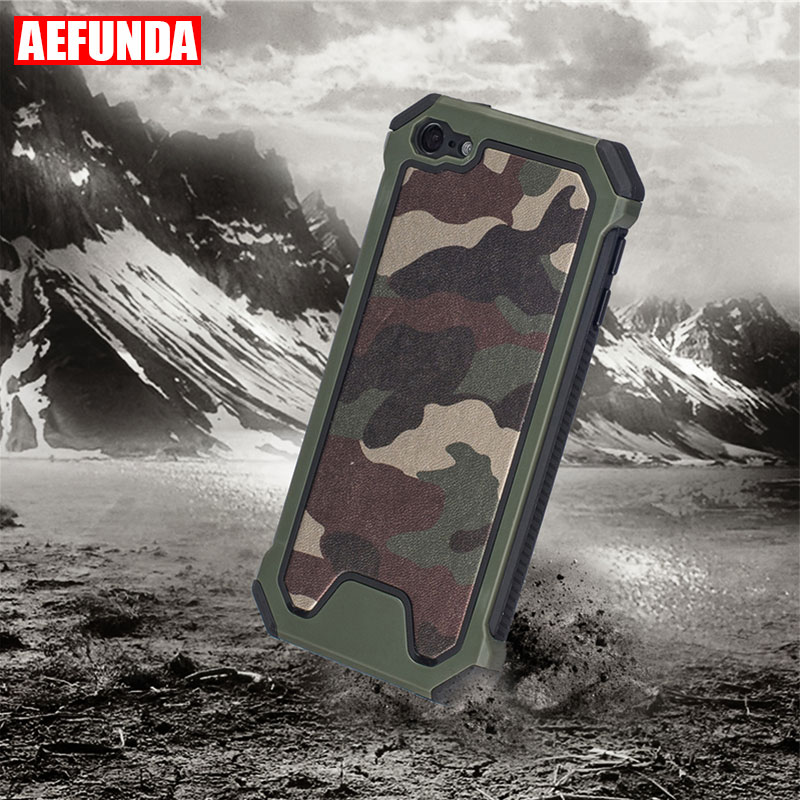 Shockproof Case For Apple iPod Touch 5 6 MP3 Player PC Case Military Camouflage Skin Anti-knock Armor TPU Frame Back Cover Coque image