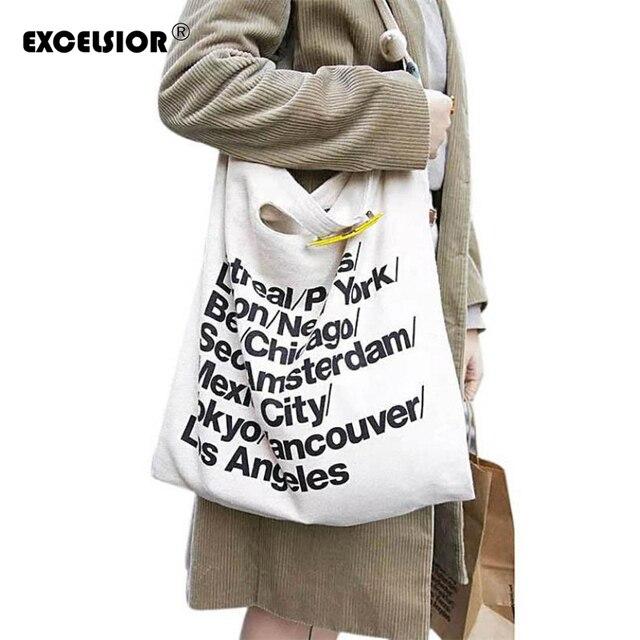 EXCELSIOR известный известных женщин сумки 2017 Моды холст сумка сумки женщин american apparel сумка женщины сцепления мешок