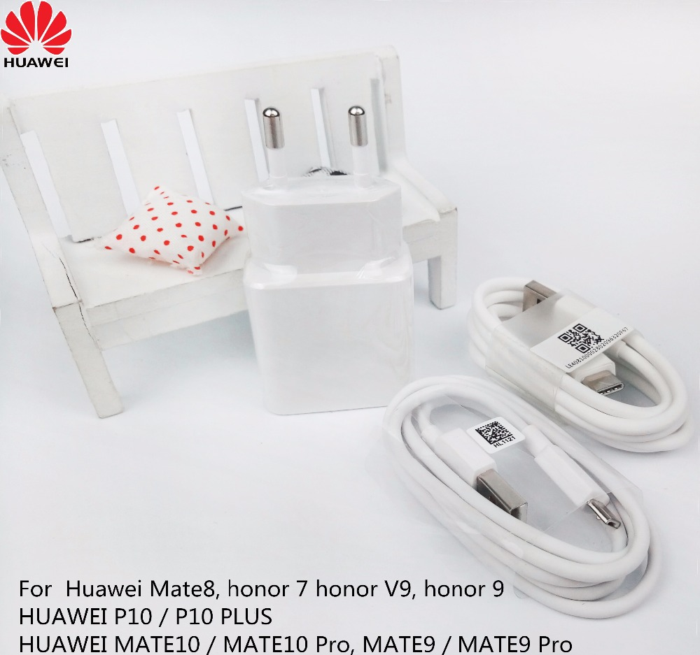 Huawei p9 QC2.0 Charger Original , Quick Fast EU/US usb wall charger adapter & Genuine Cable for Huawei Mate 8 honor 9 7 V9 p10