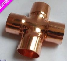5PCS/LOT Inner Diameter:22mm Thickness:1mm  Copper Welding Four Way Joint Connector Pipe Refrigeration Accessories