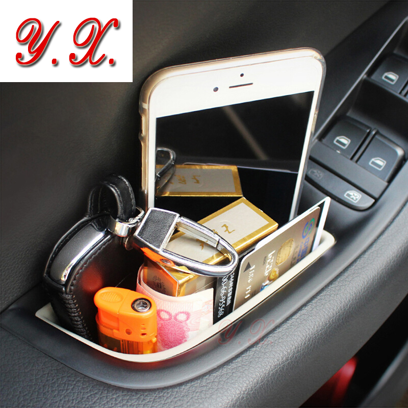 High Quality Interior modified Door storage box compartment box for audi a3 a4 a5 q5 a7 Interior Car Accessories Car styling