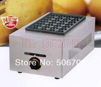 free shipping~ Hot sale gas type 1 plate Takoyaki maker machine/ fish ball oven / meat ball machine