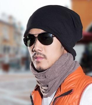 Sombrero de los hombres de invierno de doble uso de la tendencia de la moda Coreana Baotou tapa fría sombrero al aire libre de la bufanda de cuello caliente