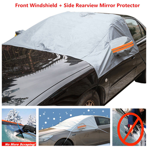 Universal Auto Winter Snow Anti-Frost Front Glass Sunshade Sun Protection Semi-Car Clothing Car Cover R-3909 Parasol Car Covers