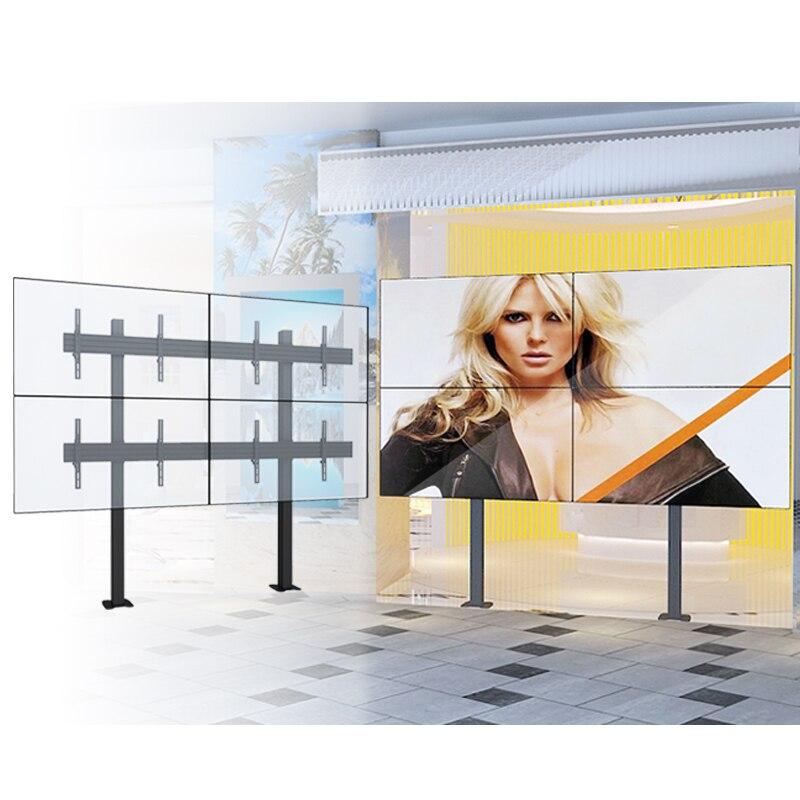 Avec la gestion de câble Quad surveille le support d'affichage Stable de moniteur de TV monté par mur vidéo LED d'affichage à cristaux liquides