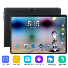 Newest Android Tablet Android 8.0 OS 10 inch tablet pc Octa Core 4GB RAM 128GB ROM 8 Cores 1280*800 IPS 2.5D Glass Screen Tablet(China)