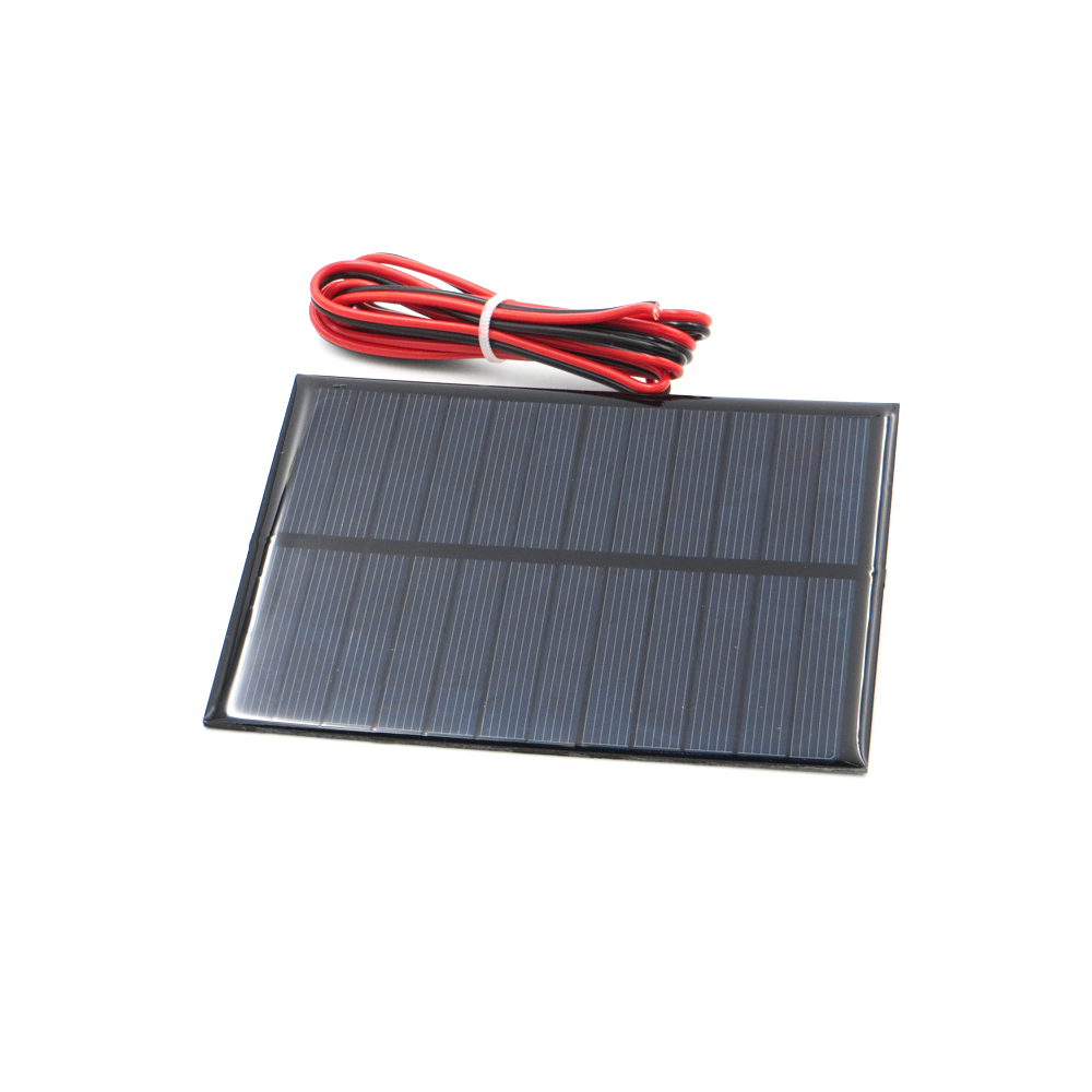 1pc x 6V 1.1Watt with 100cm extend wire Solar Panel Polycrystalline Silicon DIY Battery Charger Small Mini Solar Cell cable toy
