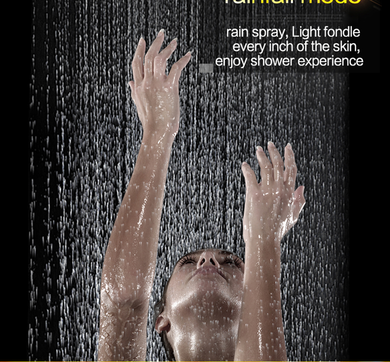 3Jets Intelligent Digital LCD Display Rain Shower Set Installed in Wall 20 SPA Mist Rainfall Thermostatic Touch Panel Shower (13)