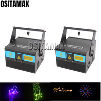 2pcs/lot disco Laser Projector RGB 1000MW Stage Light Laser 1w/2w Effect DJ Equipment Laser Disco Party Light laser system shows