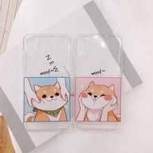 Slim Shiba Inu Transparent Soft phone case for Iphone X ,8,  8 plus, 7, 7 plus, 6, 6s plus
