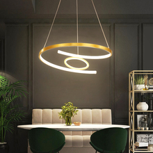 Modern LED Pendant Light dimming remote control contemporary hanging lights for home simple restaurant living room pendant lamp pendant lights led lamp modern hanglamp aluminum remote control dimming hanging lighting fixture living room kitchen restaurant
