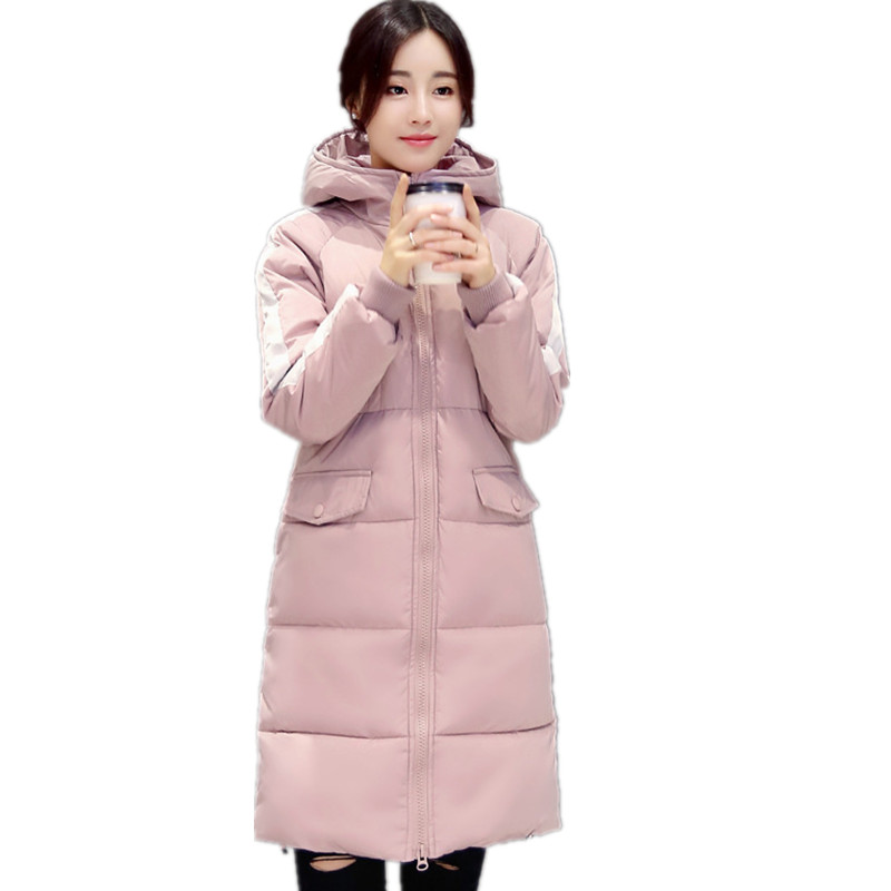 2016  Latest Winter Women Fashion Down Jacket High Quality Polyester Fiber Hooded Thick Coat Slim Big yards S019