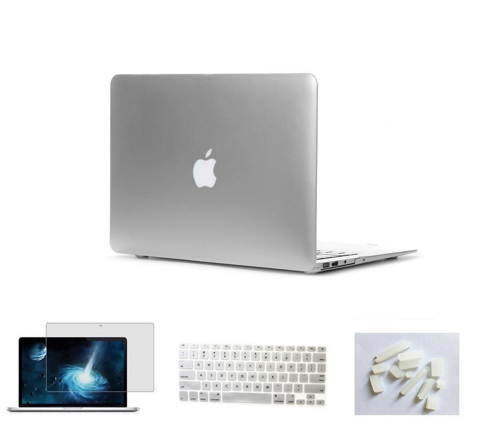 Матовый чехол для ноутбука Apple Macbook Pro retina Air 11 12 13 15 дюймов для Macbook Air13 A1932, Pro 13 15 A1989 A1990 - Цвет: Sliver
