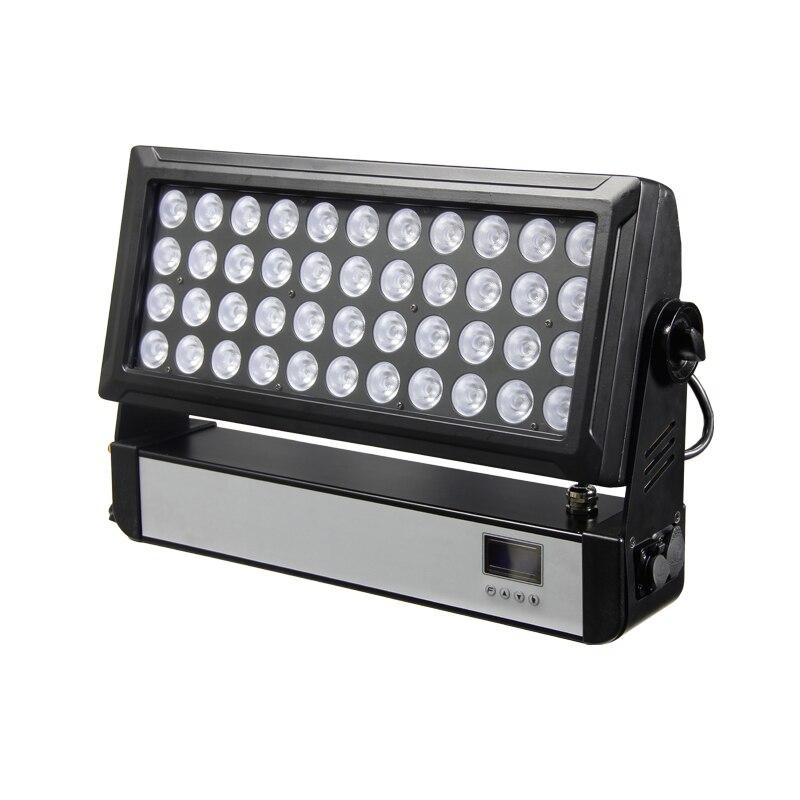 Frete grátis 44*10 W LED ACED 4 em 1 lavagem RGBW stage efeito de luz para DJ disco DMX suécia sem fio feixe flood da lavagem da parede de iluminação